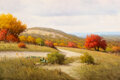 Paintings, Don Warren (American, 1935-2006). Road to Bandera. Oil on canvas. 24 x 36 inches (61.0 x 91.4 cm). Signed lower left: ...
