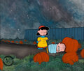 Animation Art:Production Cel, Peanuts It's the Great Pumpkin, Charlie Brown Lucy and Linus Production Cel Setup with Custo...