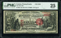 Canton, PA - $5 1875 Fr. 404 The First National Bank Ch. # 2505 PMG Very Fine 25
