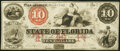 Obsoletes By State:Florida, Tallahassee, FL- State of Florida $10 Mar. 1, 1864 Cr. 32 Very Fine.. ...