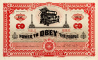 Shepard Fairey (b. 1970) Two Sides of Capitalism - Good (Large Format), 2007 Screenprint in colors on thick wove paper...