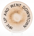 Collectible, Ed Ruscha (b. 1937). He Up and Went Downtown, 2020. Fine bone china. 10-3/4 inches (27.3 cm) diameter. Edition of 175. S...