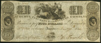 Augusta, GA- Augusta Insurance and Banking Company $4 Jan. 21, 1832 Fine