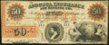 Obsoletes By State:Georgia, Augusta, GA- Augusta Insurance and Banking Co $50 Jan. 23, 1860 Fine.. ...
