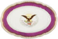 Political:3D & Other Display (pre-1896), Abraham Lincoln: A Very Rare Oval White House Platter. ...