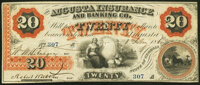 Augusta, GA- Augusta Insurance and Banking Co. $20 Feb. 8, 1860 G40a Fine