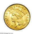 Three Dollar Gold Pieces: , 1888 $3 MS65 PCGS. Unlike most other late-date Three ...