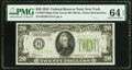 Fr. 2054-B $20 1934 Dark Green Seal Federal Reserve Note. PMG Choice Uncirculated 64 EPQ