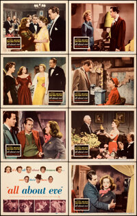 """All About Eve (20th Century Fox, 1950). Very Fine-. Lobby Card Set of 8 (11"""" X 14""""). ... (Total: 8)"""