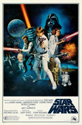 """Movie Posters:Science Fiction, Star Wars (20th Century Fox, 1977). Rolled, Very Fine+. International One Sheet (27"""" X 41"""") Style C, Tom Chantrell Artwork...."""
