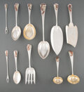 Silver & Vertu, A Group of Eleven Gorham Mfg. Co. Silver and Mixed Metal Flatware Pieces, Providence, Rhode Island, late 19th century. Marks... (Total: 10 )