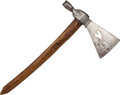 Edged Weapons:Other Edged Weapons, Custer Era Indian Pipe Tomahawk, c. 1870. The 8-1...