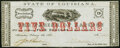 Obsoletes By State:Louisiana, Alexandria, LA- Parish of Rapides $5 Feb. 8, 1862 Extremely Fine-About Uncirculated.. ...