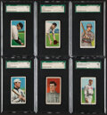 Baseball Cards:Lots, 1909-11 T206 Piedmont/Sweet Caporal SGC Graded Lot of 6. ...