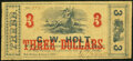 Obsoletes By State:Louisiana, New Orleans, LA- G.W. Holt $3 Jan. 1,1862 Very Good-Fine.. ...