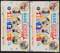 Baseball Cards:Unopened Packs/Display Boxes, 2018 Topps Heritage Baseball Unopened Hobby Box With 24 Packs, Lot of 2....