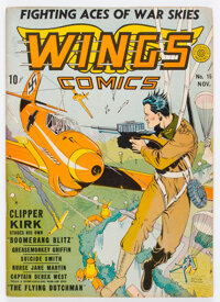 Wings Comics #15 (Fiction House, 1941) Condition: FN+