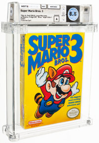 "Super Mario Bros. 3 - Wata 8.5 A Sealed [""Bros."" Right, Later Production], NES Nintendo 1990 USA"