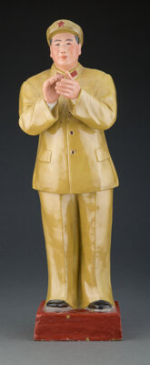 A Chinese Earthenware Chairman Mao Figure, 20th century 22-1/8 inches (56.2 cm)