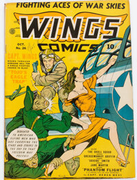 Wings Comics #26 (Fiction House, 1942) Condition: FN