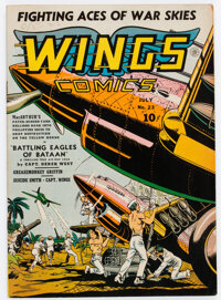 Wings Comics #23 (Fiction House, 1942) Condition: FN+