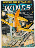 Golden Age (1938-1955):War, Wings Comics #24 (Fiction House, 1942) Condition: VG/FN....