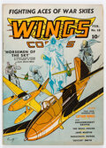 Golden Age (1938-1955):War, Wings Comics #18 (Fiction House, 1942) Condition: FN/VF....