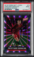 Olympic Cards:General, 2018 Panini National Convention Cristiano Ronaldo (Rainbow Spokes) #79 PSA Mint 9 - Serial Numbered 36/49....