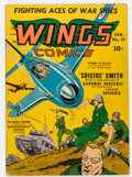 Golden Age (1938-1955):War, Wings Comics #17 (Fiction House, 1942) Condition: VG/FN....