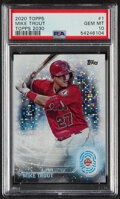 Baseball Cards:Singles (1970-Now), 2020 Topps Mike Trout (Topps 2030) #1 PSA Gem Mint 10. ...