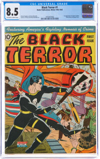 The Black Terror #1 (Nedor, 1942) CGC VF+ 8.5 Off-white to white pages