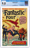 Silver Age (1956-1969):Superhero, Fantastic Four #4 (Marvel, 1962) CGC VF/NM 9.0 Off-white to white pages....