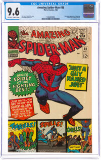 The Amazing Spider-Man #38 (Marvel, 1966) CGC NM+ 9.6 Off-white to white pages