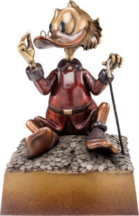 """This Dollar Saved My Life at Whitehorse"" Scrooge McDuck Bronze Statue (Walt Disney, 1994)"