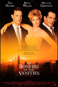 """The Bonfire of the Vanities & Other Lot (Warner Bros., 1990). Rolled, Very Fine-. One Sheets (4) (27"""" X 40,&quo..."""