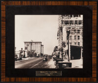 """Wilshire Blvd. (1923). Very Fine. Framed and Matted Photo (16"""" X 18.5""""). Photo"""