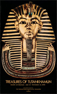 """Treasures of Tutankhamun & Other Lot (Seattle Art Museum, 1978). Rolled, Very Fine. Museum Posters (2) (22.25""""..."""