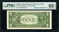 Third Printing on Back Error Fr. 1913-B $1 1985 Federal Reserve Note. PMG Choice Uncirculated 63 EPQ