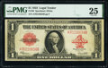 Large Size:Legal Tender Notes, Fr. 40 $1 1923 Legal Tender PMG Very Fine 25.. ...