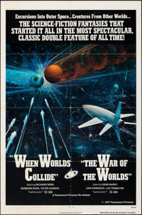 """When Worlds Collide/The War of the Worlds Combo (Paramount, R-1977). Folded, Fine. One Sheet (27"""" X 41""""). Scie..."""