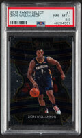 Basketball Cards:Singles (1980-Now), 2019 Panini Select Zion Williamson #1 PSA NM-MT+ 8.5....