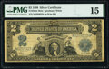 Large Size:Silver Certificates, Fr. 258 $2 1899 Mule Silver Certificate PMG Choice Fine 15.. ...