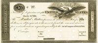 United States - Act of February 24, 1815 $50 Treasury Note. Hessler X83E, Fr. TN-11p. Proof. PMG Gem Uncirculated 65 EPQ...