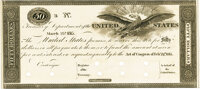 United States - Act of February 24, 1815 $50 Treasury Note. Hessler X83E, Fr. TN-11p. Proof. PMG Choice Uncirculated 64...