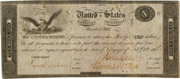 United States - Act of February 24, 1815 $10 Treasury Note. Hessler X83C, Fr. TN-14b. Triple-Signature Fully Issued. PMG...