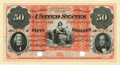 Fr. 202as $50 Act of March 2, 1861 Two-Year 6% Interest Bearing Note Hessler X126F (old 945b). Specimen. PMG Choice Abou...