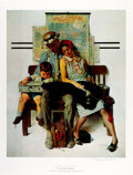 "Autographs:Artists, Norman Rockwell Signed Print ""Tired but Happy."" 1..."