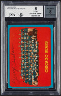Autographs:Sports Cards, Signed 1963 Topps George Halas - Chicago Bears Team #72 BG...