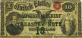 Fr. 190b $10 Act of June 30, 1864 Three-Year 6% Compound Interest Treasury Note. Hessler X140A. PMG Choice Fine 15