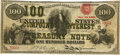 Fr. 193b $100 Act of June 30, 1864 Three-Year 6% Compound Interest Treasury Note. Hessler X140D. PMG Very Fine 20